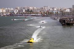 快速快速汽艇赛跑 免版税库存照片