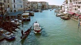 快速的交通射击在威尼斯 股票录像