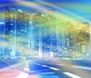 快速的交通行动的抽象背景例证 免版税库存图片