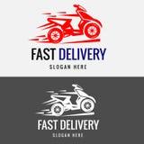 快速的交付自行车商标模板 向量例证