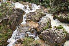 快速的山河 库存照片