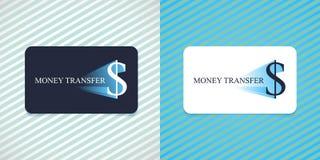 快速的汇款传染媒介商标,象 免版税库存图片