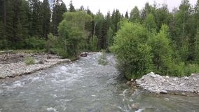 快速的河,从桥梁的看法 股票视频