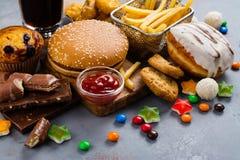 快速的碳水化合物食物 免版税图库摄影