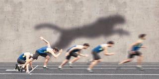 快速的赛跑的开始 免版税库存图片