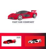 快速的跑车商标红色 免版税库存照片