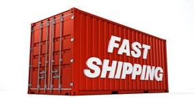 快速的运输货柜 免版税库存照片