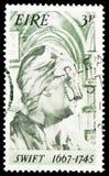 快速1667-1745,乔纳森・斯威夫特serie第30诞生周年,大约1967年 库存照片