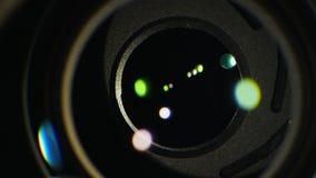 快门机制的宏观录影在mirrorless照相机的 照相机工作特写镜头 影视素材