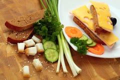 快餐和三明治 图库摄影
