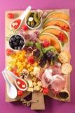 快餐和开胃小菜 免版税库存照片