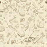 快餐彩图设计传染媒介线艺术 库存照片