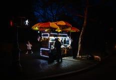 快餐推车在纽约 库存图片