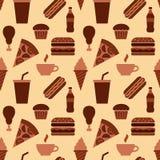 快餐无缝的样式 库存例证
