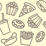 快餐样式概述 免版税图库摄影