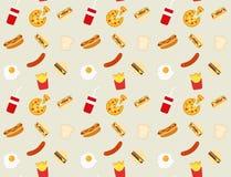 快餐样式背景 免版税图库摄影