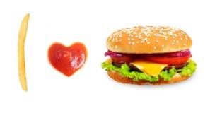 快餐概念。 免版税库存照片