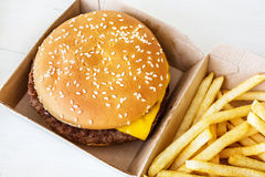 快餐汉堡包 库存图片