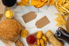 快餐的分类 免版税库存图片