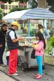 快餐立场在Banos,厄瓜多尔 库存照片