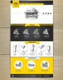 快餐菜单概念网站设计 皇族释放例证