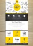 快餐菜单概念网站设计 库存例证