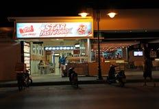 快餐餐馆在Faliraki Lindos 库存照片