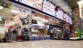 快餐餐馆汉堡王 库存照片