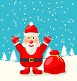 快活圣诞节圣诞老人阻止 图库摄影