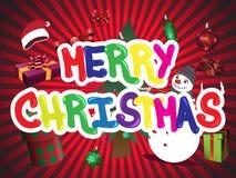 快活圣诞节的例证 免版税库存图片