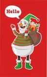 快活圣诞节的例证 免版税图库摄影