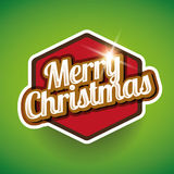 快活圣诞节的标签 免版税库存照片