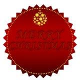 快活圣诞节的标签 库存例证