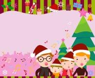 快活圣诞节的框架 库存照片