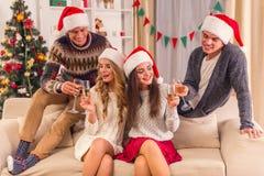 快活庆祝的圣诞节 库存照片