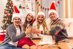 快活庆祝的圣诞节 免版税库存图片