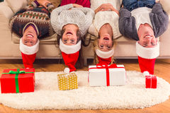 快活庆祝的圣诞节 免版税库存照片