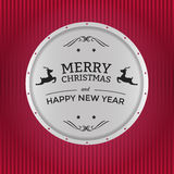 快活徽章的圣诞节 免版税图库摄影
