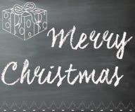 快活黑板的圣诞节 免版税库存照片