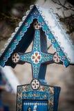 快活的公墓在Sapanta,罗马尼亚 免版税库存图片