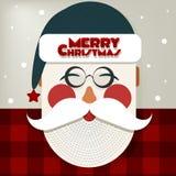 快活的圣诞老人祝愿圣诞快乐 免版税库存照片