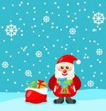 快活的圣诞节圣诞老人 免版税库存图片