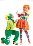 快活的小丑 免版税库存照片