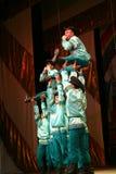 快活的欢乐俄国民间舞 芭蕾舞蹈艺术仿照民间假日Maslenitsa样式 免版税库存图片