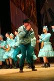 快活的欢乐俄国民间舞 芭蕾舞蹈艺术仿照民间假日Maslenitsa样式 库存照片