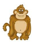 快活的猿 免版税库存图片