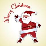 快活的老圣诞老人 免版税库存图片