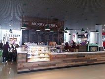 快活的莓果咖啡馆在乌克兰 图库摄影