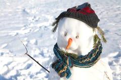 快活的雪人 免版税库存照片