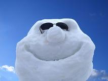 快活的雪人 库存照片